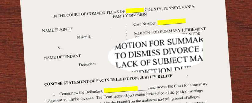 Divorce Judge – Rule that No-Fault is Unconstitutional