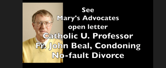 Catholic U. Professor Fr. John Beal, Condoning no-fault divorce