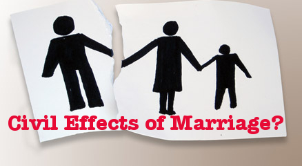 """Disaster from Misusing Words: """"Civil Effects of Marriage"""""""