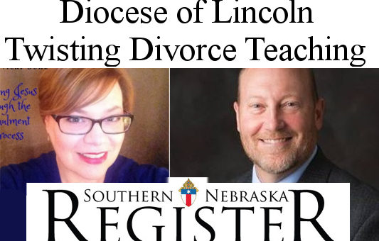 Twisting Divorce Teaching in Diocese of Lincoln