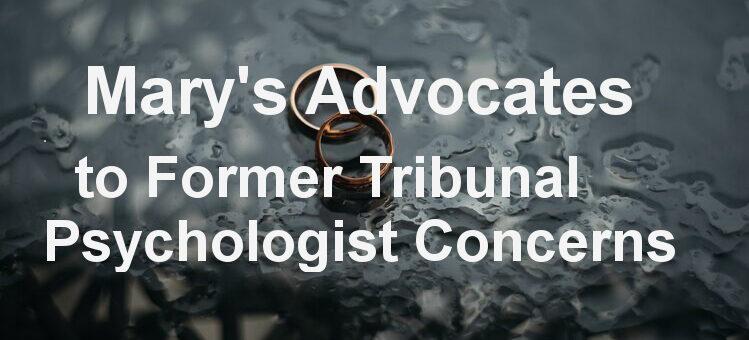 Former Tribunal Psychologist's Concerns